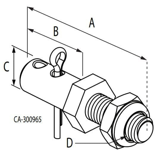 Pivot Pins for Terminal Eyes Diagram